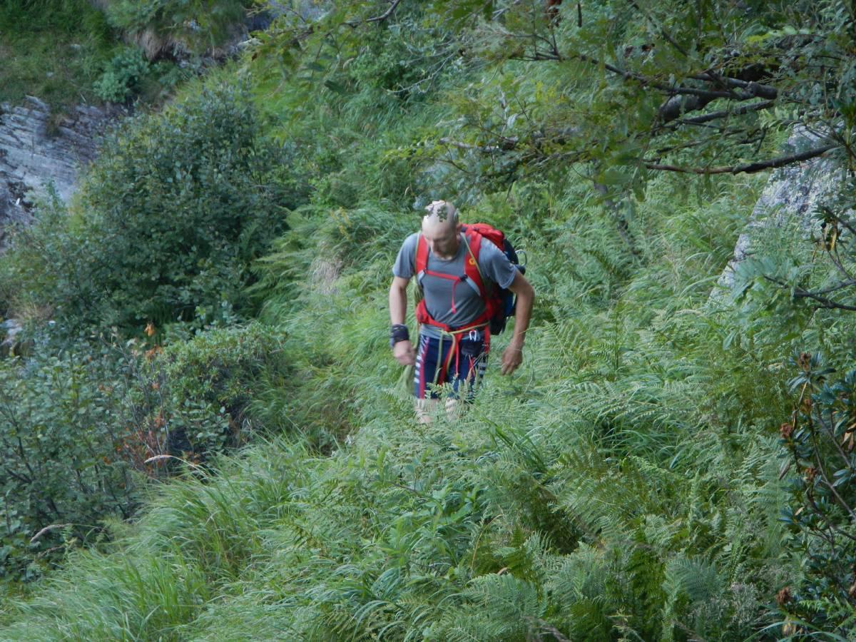 Tracce avvicinamento alla pioda sopra alpe colla