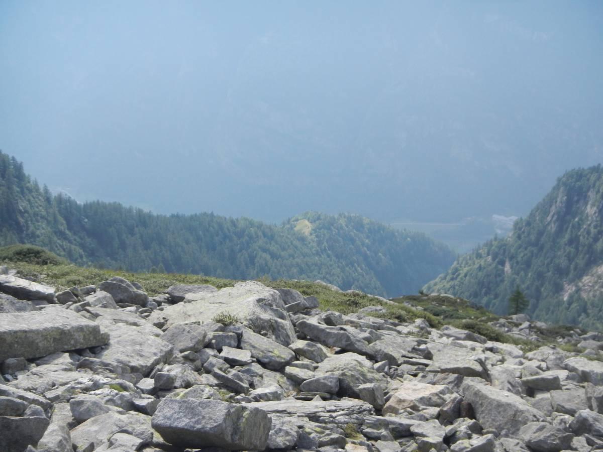 sguardo verso l'alpe colla