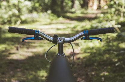 bici nel parco tra fiumi e boschi