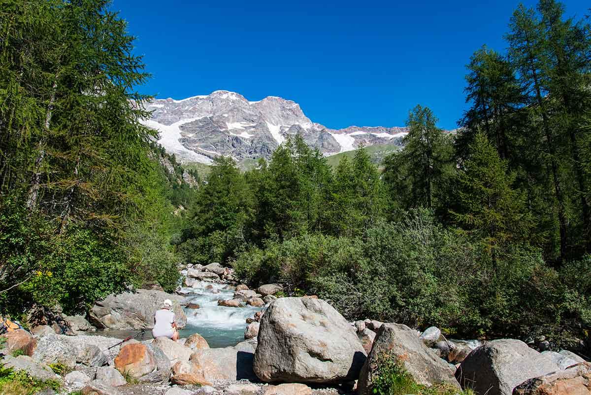 Torrente Sesia e Monte Rosa