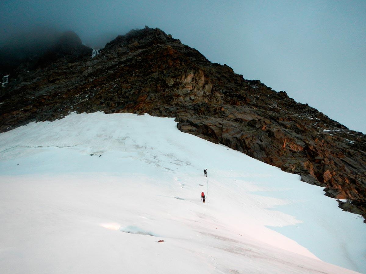 Estremita orientale del ghiacciaio del Piode