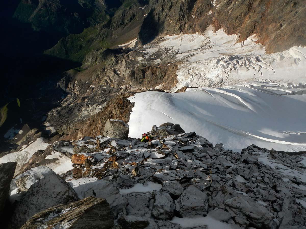 Secondo sperone sopra al ghiacciaio del Piode