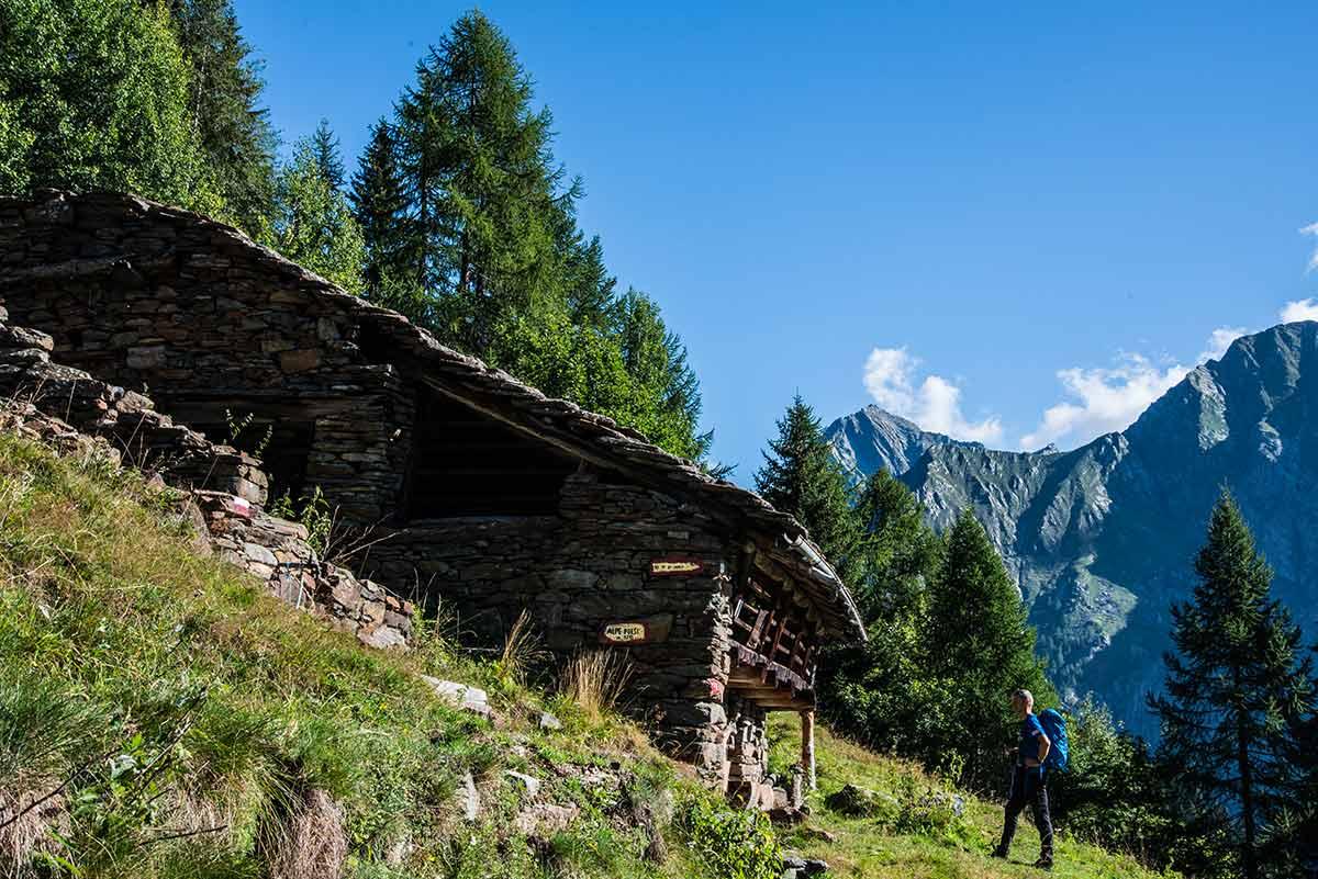 Alpe Poese in Val Vogna - cima mutta