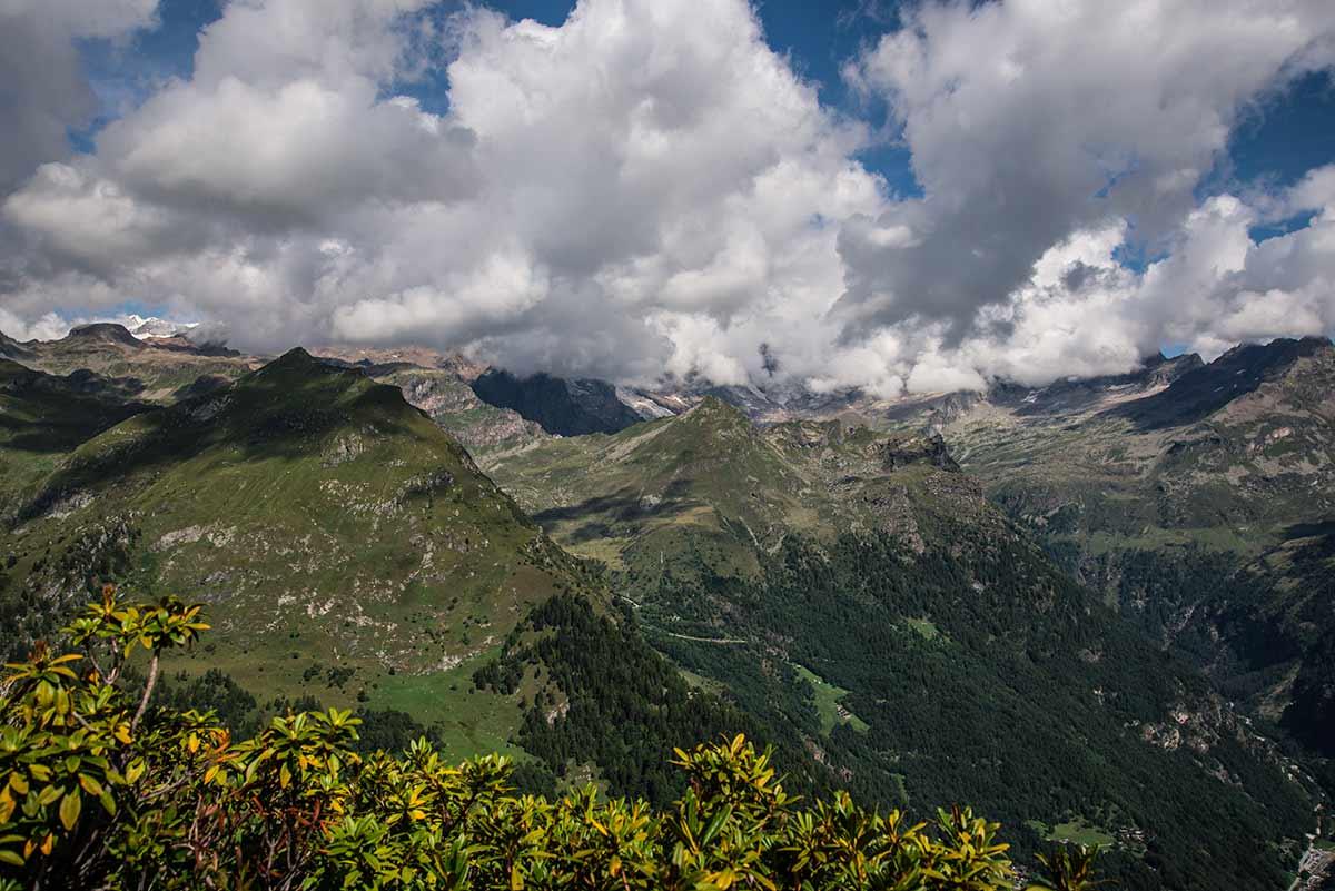 Verso il monte Rosa dalla cima Mutta