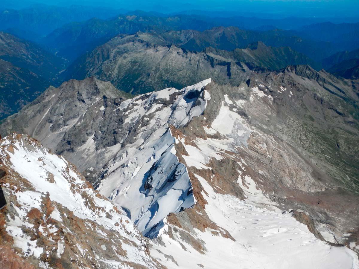 La cresta Signal dalla Capanna Margherita